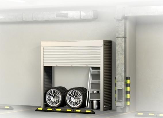 Шкаф в паркинг Лайт - 1 (без_наполнения)